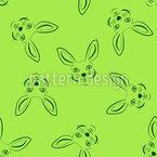 Cabeça de coelho Design de padrão vetorial sem costura
