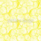 Sehr Frische Zitronen Nahtloses Muster