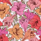Amaryllis Blüten Rapportiertes Design