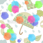 Umbrellas And Boots Vector Pattern