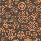 Textured Circles Vector Pattern
