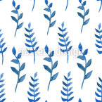 Watercolor Branches Seamless Vector Pattern Design