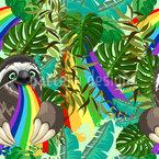 Faultier Das Regenbogen Isst Rapportmuster