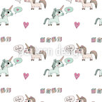 Unicorn Love Repeating Pattern