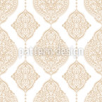 Emblema Árabe Design de padrão vetorial sem costura