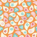 Geworfene Blumenblätter Nahtloses Vektormuster