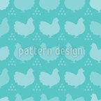 Hens And Eggs Silhouettes Vector Design
