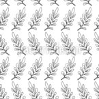 Line Drawing Leaves Seamless Vector Pattern Design