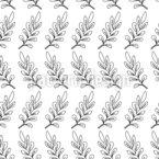 Strichzeichnung Blätter Nahtloses Vektormuster