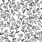 Simple Foliage Seamless Vector Pattern Design