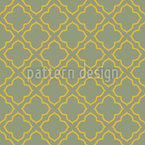 Oriental Lattice Construct Seamless Pattern