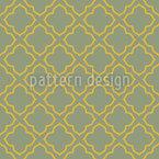 Construção de Lattice Oriental Design de padrão vetorial sem costura
