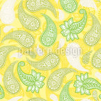 Limoncello Paisleys Seamless Vector Pattern