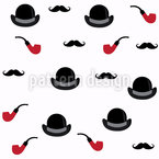 Mustache And Smoking Pipe Pattern Design
