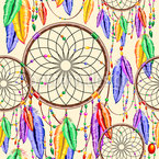 Modern Dreamcatcher Seamless Vector Pattern Design