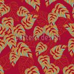 Birkenblätter auf Rot Nahtloses Vektormuster