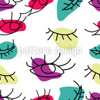Psychedelic Eyes Seamless Vector Pattern Design