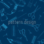 Barber Accessories Pattern Design
