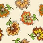 Calming Flowers Seamless Vector Pattern Design