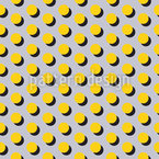 Memphis Dots Seamless Vector Pattern Design