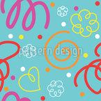 Liebes Kritzeleien Muster Design