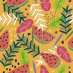 Frutas tropicais Design de padrão vetorial sem costura