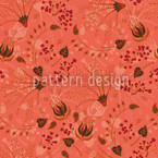 Natashas Magic Garden Apricot Seamless Vector Pattern Design