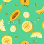 Frutas para Salada Design de padrão vetorial sem costura