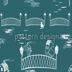 Boardwalks To The Kitten Bridge Vector Pattern