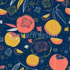 Persimmon Fruits Vector Ornament