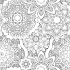 Overlapping Mandalas Seamless Vector Pattern Design