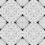 Rejilla De Mandalas Estampado Vectorial Sin Costura