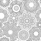 Pile Of Mandalas Seamless Vector Pattern Design