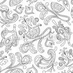 Sonho Ornamental Design de padrão vetorial sem costura