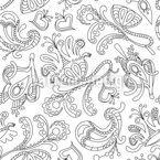 Ornamental Dream Seamless Vector Pattern Design