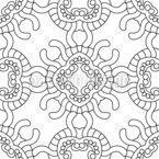 Quallen Mandalas Designmuster