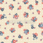 Polkadots And Flowers Repeat Pattern