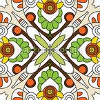 Formas Florais Design de padrão vetorial sem costura
