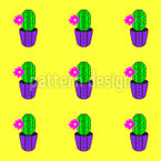 Pixel Art Kaktus Nahtloses Vektormuster