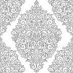 Folhas ornamentadas lineares Design de padrão vetorial sem costura