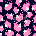Flying Pigs Vector Pattern