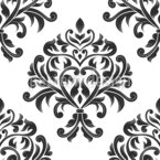 Damask Bouquet Seamless Vector Pattern Design