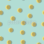 Memphis High Noon Seamless Vector Pattern Design
