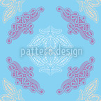 Lacy Ida Blue Seamless Vector Pattern Design