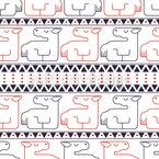 Liegende Pferde Nahtloses Vektor Muster