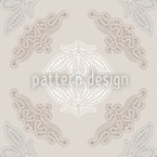Lacy Ida Beige Seamless Vector Pattern Design