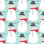 Mister Snowman Seamless Vector Pattern Design