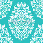 Floral Medallions Seamless Vector Pattern Design