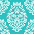 Médaillons floraux Motif Vectoriel Sans Couture