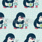 A Gift For Bunny Seamless Vector Pattern Design